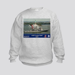 USS Leyte Gulf CG-55 Kids Sweatshirt