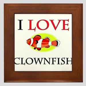 I Love Clownfish Framed Tile