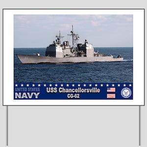 USS Chancellorsville CG-62 Yard Sign