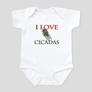 I Love Cicadas Infant Bodysuit
