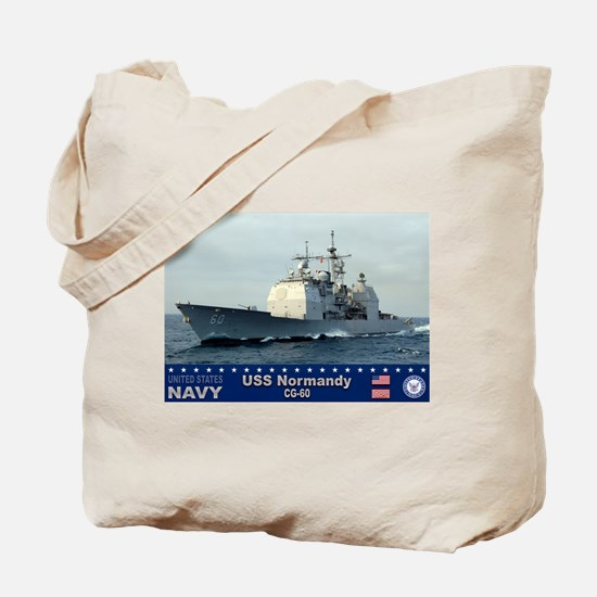 USS Normandy CG-60 Tote Bag