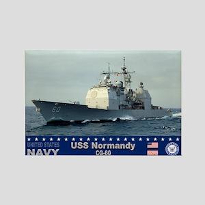 USS Normandy CG-60 Rectangle Magnet