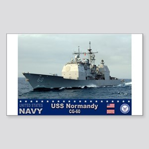 USS Normandy CG-60 Rectangle Sticker