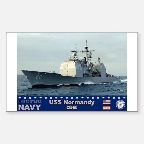 USS Normandy CG-60 Rectangle Decal