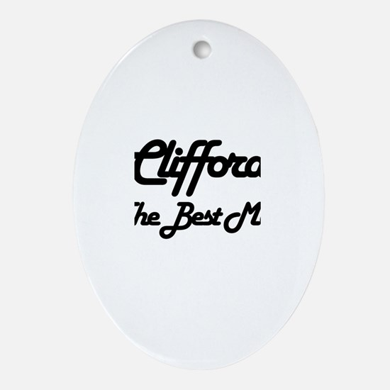 Clifford - The Best Man Oval Ornament