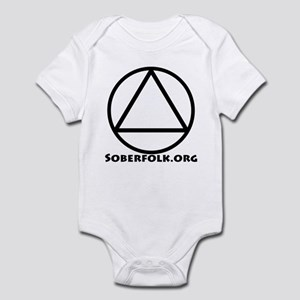 Soberfolk Black Infant Bodysuit