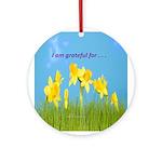 Gratitude Is My Attitude Ornament (Round)