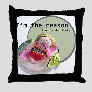 Broken Blender Throw Pillow