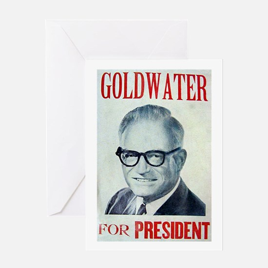 goldwaterposter Greeting Cards