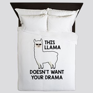This Llama Doesn't Want Your Drama Queen Duvet