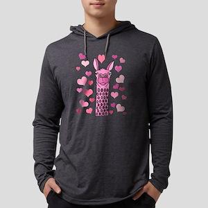 Cute Pink Llama Love Long Sleeve T-Shirt