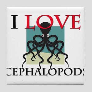 I Love Cephalopods Tile Coaster