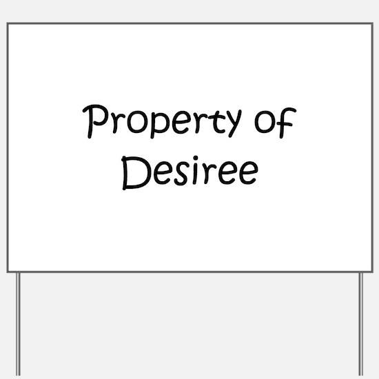 Funny Desiree Yard Sign