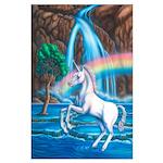 Rainbow Unicorn Large Poster