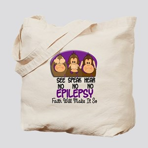 See Speak Hear No Epilepsy 1 Tote Bag