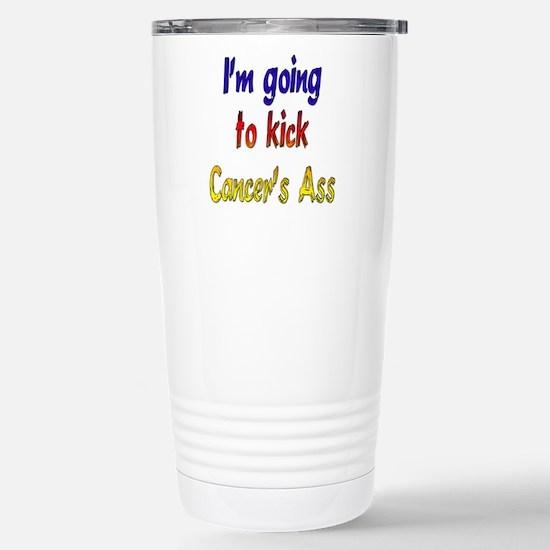 Kick Cancer's Ass ver2 Stainless Steel Travel Mug