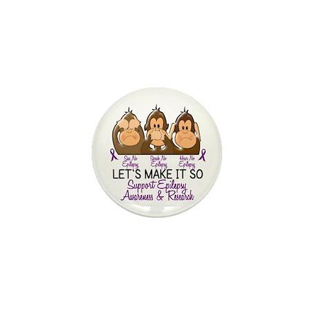 See Speak Hear No Epilepsy 2 Mini Button (10 pack)