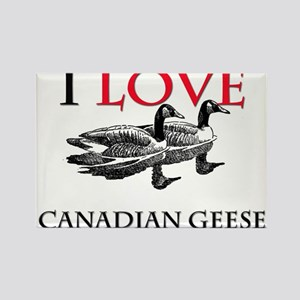 I Love Canadian Geese Rectangle Magnet