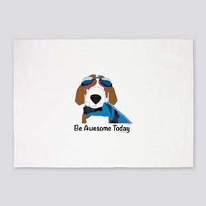 Be Awesome Today 5'x7'Area Rug