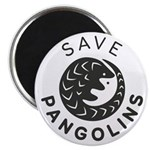 Save Pangolins.org Black Logo Magnets