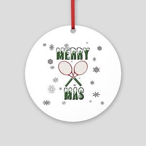 Tennis Merry Christmas Ornament (Round)