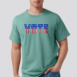 Red White and Blue Stars and Stripes VOTE T-Shirt