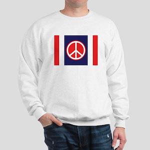 Red & Blue Peace Symbol Sweatshirt