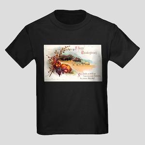 Ripe Fruits & Flowers Kids Dark T-Shirt