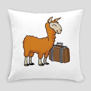 Llama Animal Lover Alpaca Adventur Everyday Pillow