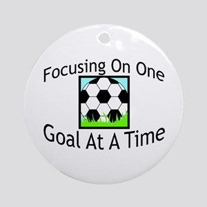One Goal At A Time Ornament (Round)