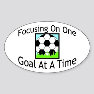 One Goal At A Time Oval Sticker