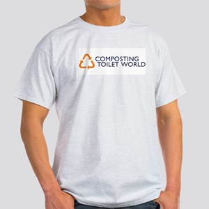 Composting Toilet World Logo Ash Grey T-Shirt