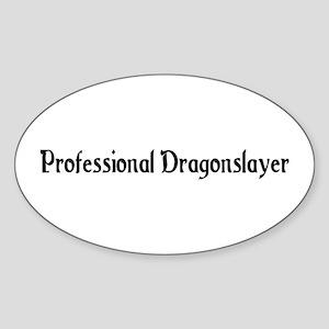 Professional Dragonslayer Oval Sticker
