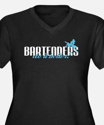 Bartenders Do It Better! Women's Plus Size V-Neck