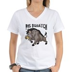 Pig Squatch Women's V-Neck T-Shirt