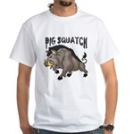 Pig Squatch White T-Shirt