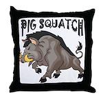 Pig Squatch Throw Pillow