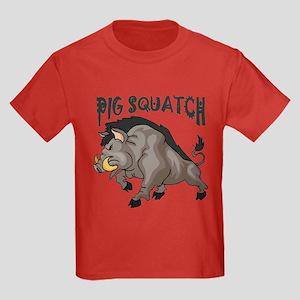Pig Squatch Kids Dark T-Shirt