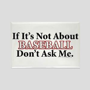 Baseball Rectangle Magnet