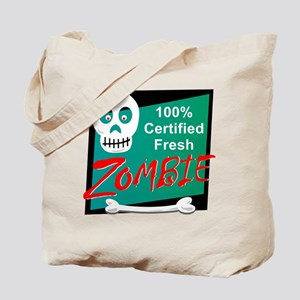 Funny Certified Fresh Zombie Tote Bag