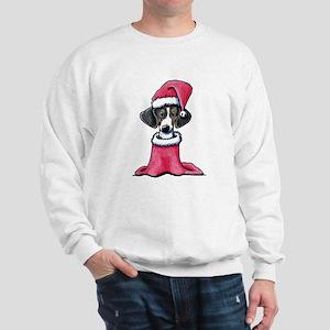 Holiday Piebald Doxie Sweatshirt