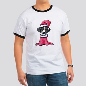 Holiday Piebald Doxie Ringer T
