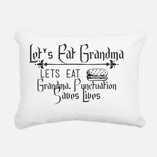 Cute Lets eat grandma Rectangular Canvas Pillow