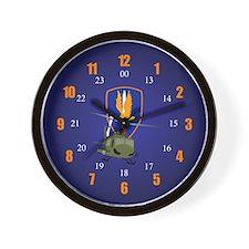 24 hour 1st Aviation Brigade Wall Clock