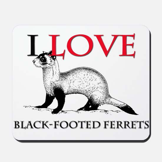 I Love Black-Footed Ferrets Mousepad