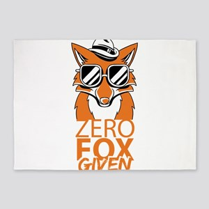 Zero Fox Given Do Not Care Funny Hu 5'x7'Area Rug