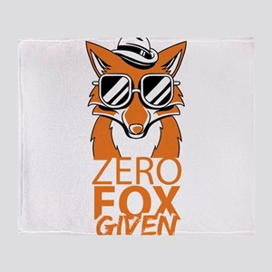 Zero Fox Given Do Not Care Funny Hum Throw Blanket