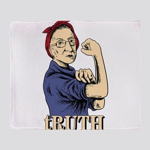 RBG Ruth Ginsburg Supreme Court Femi Throw Blanket