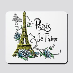 Paris shirt Eiffel Tower Je taime Paris Mousepad