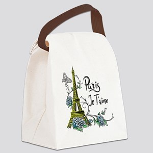 Paris shirt Eiffel Tower Je taime Canvas Lunch Bag